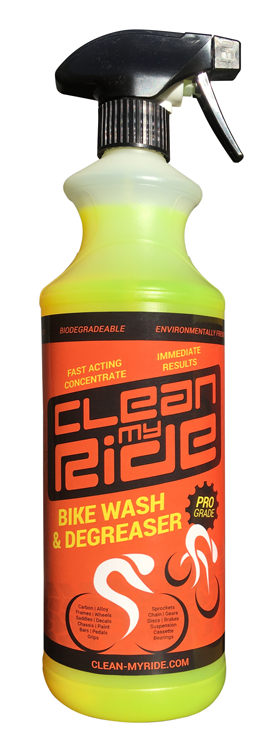 Clean MyRide combined bikewash degreaser cleans cycle cassettes, gears, chains and derailleurs like new in no time at all