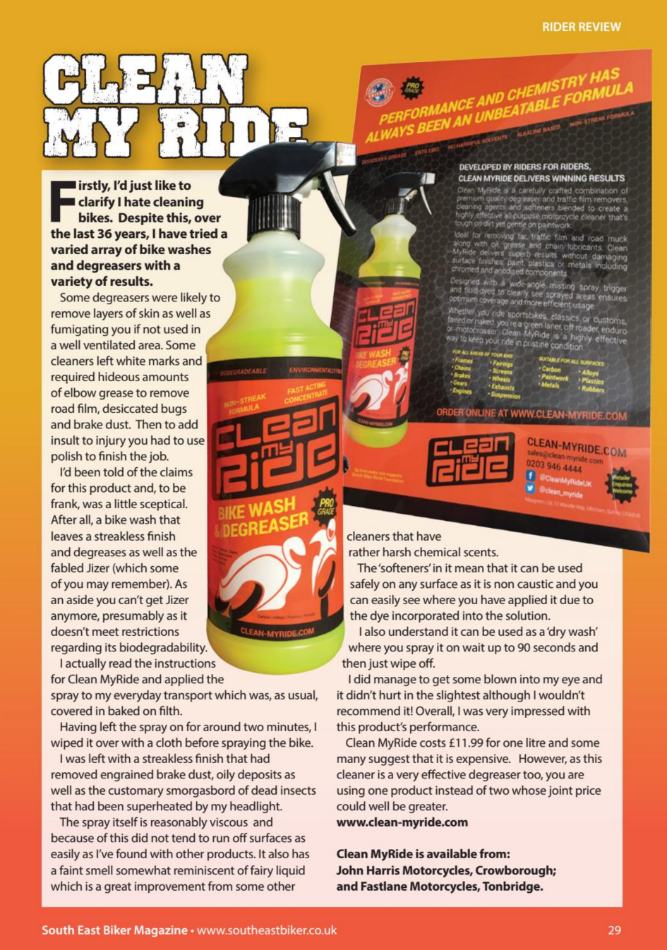 clean-myride-wash-degreaser-south-east-biker-magazine-review-december2017