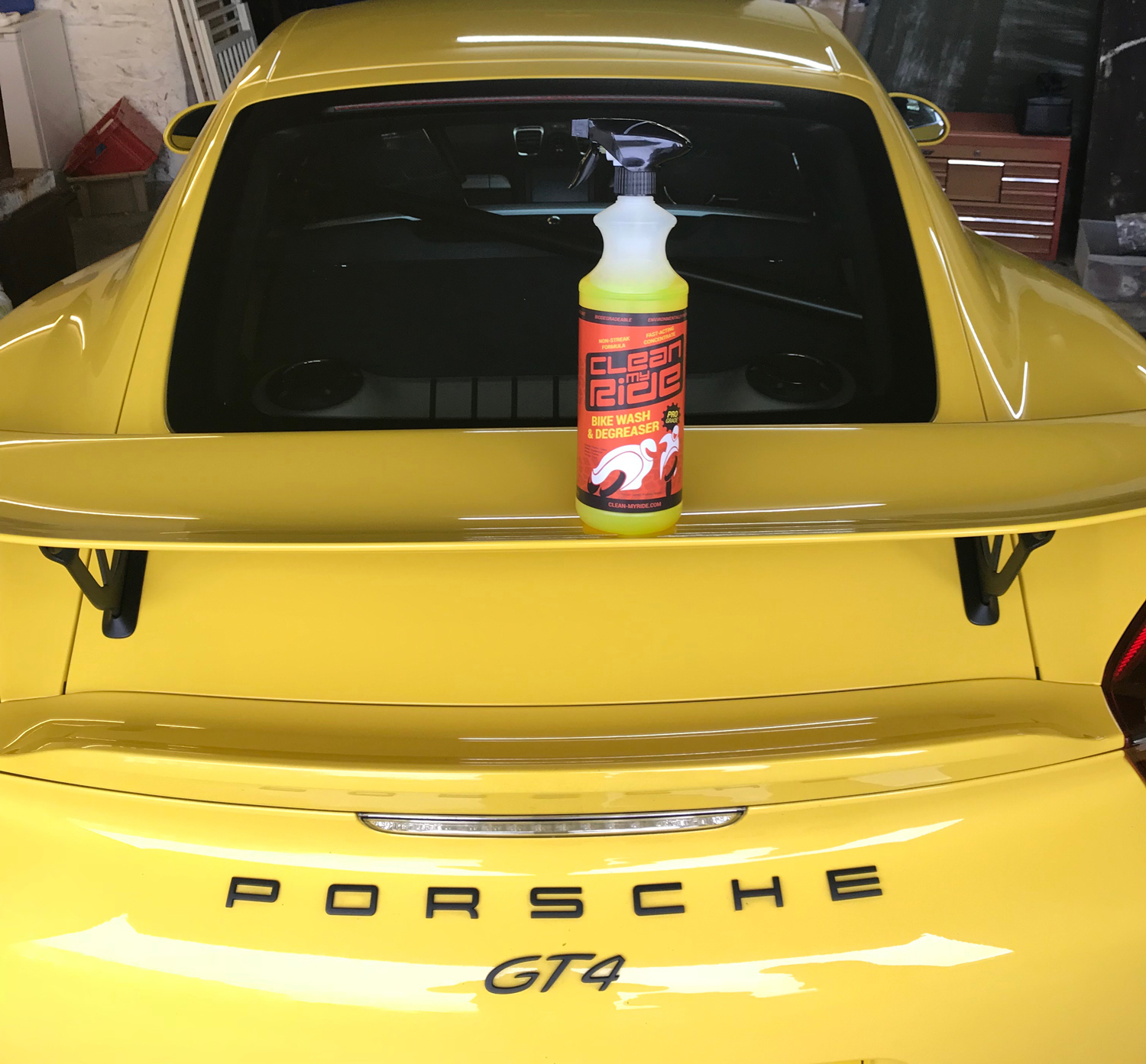 Clean MyRide combined bikewash degreaser is ideal for cleaning motorcycles, cars, karts, vans, boats even UPVC window frames, mountain bikes, road cycles, MTBs etc. It's safe on all surfaces, non-caustic, non-streak, environmentally friendly and biodegradable.